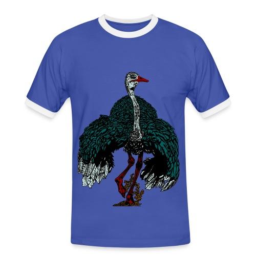 mannen T-shirt met struisvogel - Mannen contrastshirt
