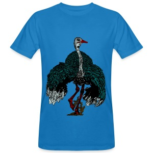 mannen T-shirt met struisvogel - Mannen Bio-T-shirt