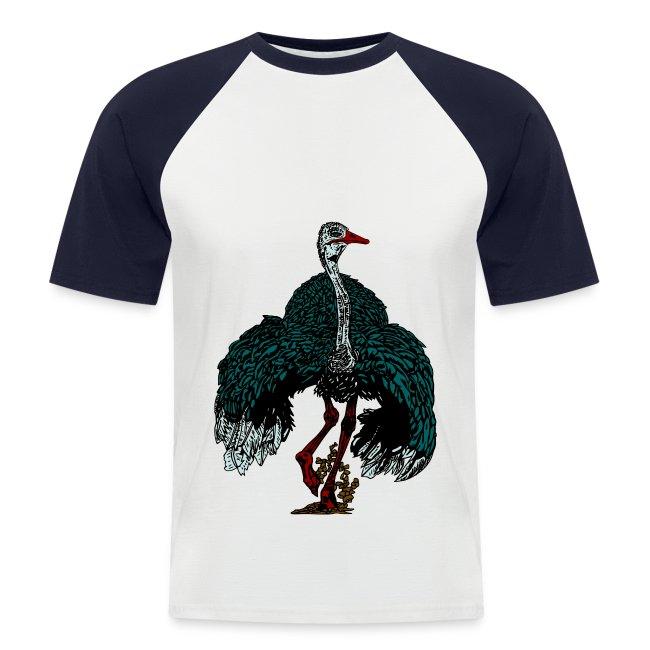 mannen T-shirt met struisvogel