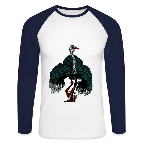 mannen shirt met struisvogel - Mannen baseballshirt lange mouw