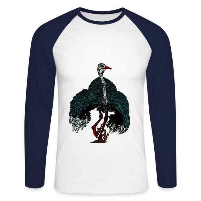 mannen shirt met struisvogel