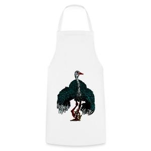 keukenshort met struisvogel - Keukenschort
