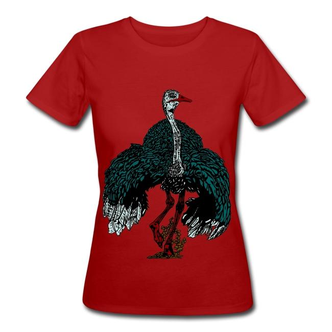 vrouwen T-shirt met struisvogel