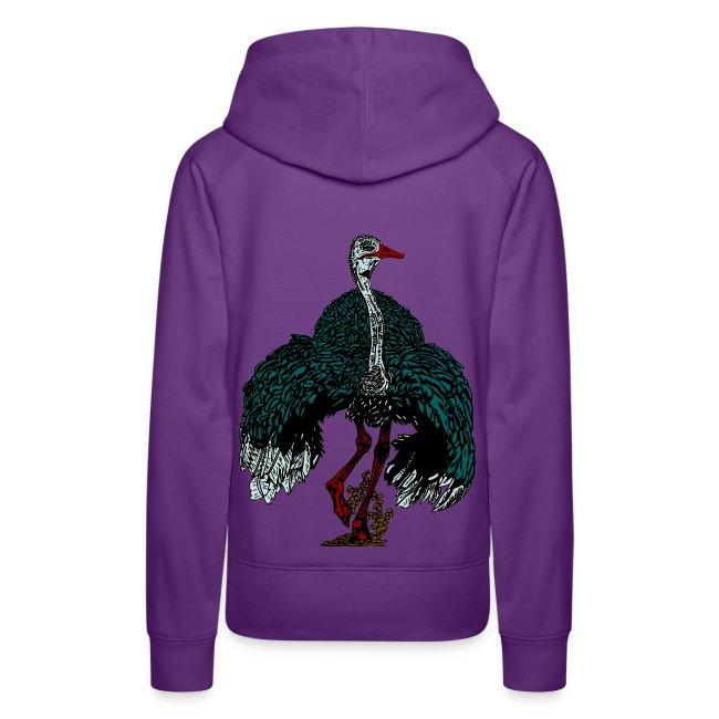 vrouwen sweater met struisvogel