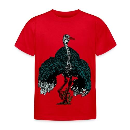 kinder T-shirt met struisvogel - Kinderen T-shirt