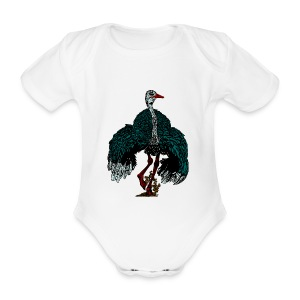 babyrompermet struisvogel - Baby bio-rompertje met korte mouwen