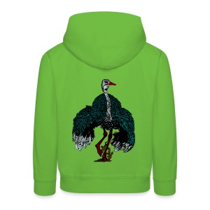 kinder trui met struisvogel - Kinderen trui Premium met capuchon