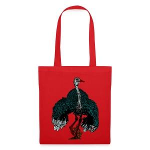 tas met struisvogel - Tas van stof