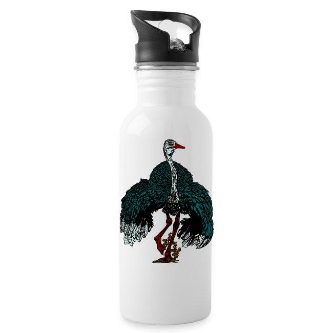 drinkfles met struisvogel