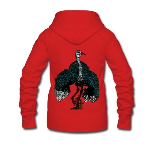vrouwen jack met capuchon met struisvogel - Vrouwenjack met capuchon Premium