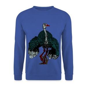 mannen sweater met struisvogel - Mannen sweater