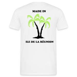 Tee-Shirt Blanc made in La Réunion - T-shirt Homme