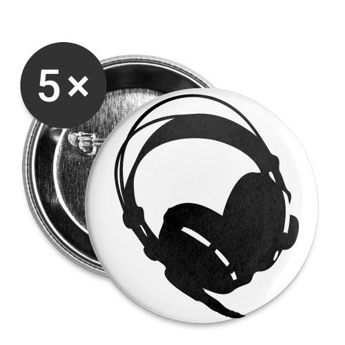 headphones stickers - Stora knappar 56 mm (5-pack)