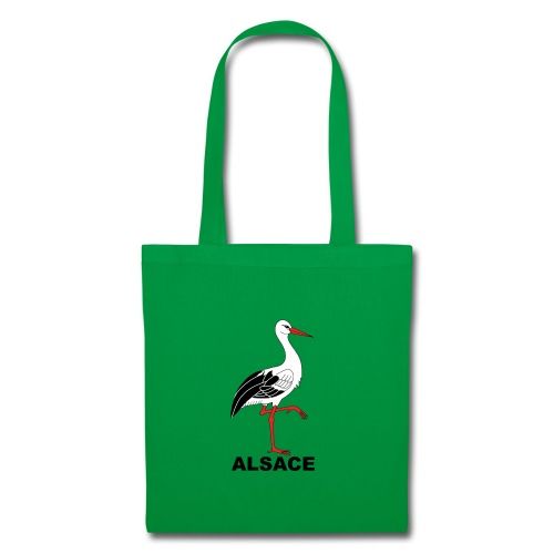 Sac en tissu cigogne Alsace - Tote Bag