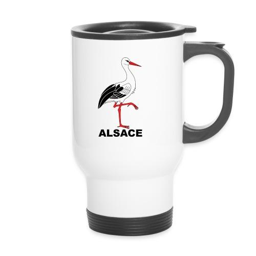 Mug thermos cigogne Alsace - Mug thermos