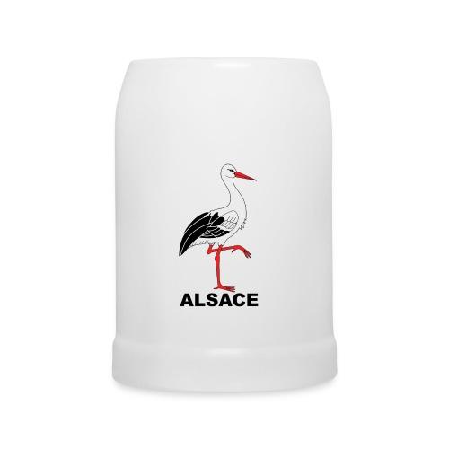 Chope bière cigogne Alsace - Chope en céramique