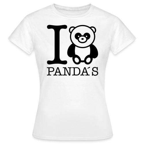 I Love Panda - Koszulka damska