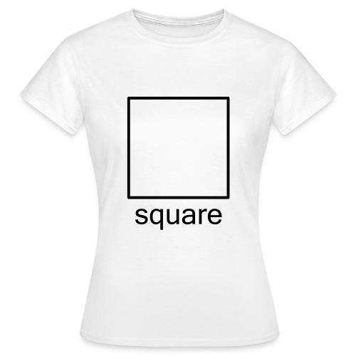 Women's Square Ts - black square - Women's T-Shirt