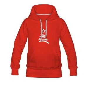 Kapuzenpullover Tannenbaum rot - Frauen Premium Hoodie