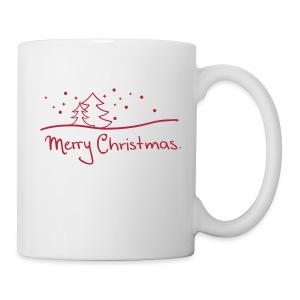 Tasse Merry Christmas rot - Tasse
