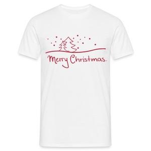 T-Shirt Merry Christmas weiß/rot - Männer T-Shirt
