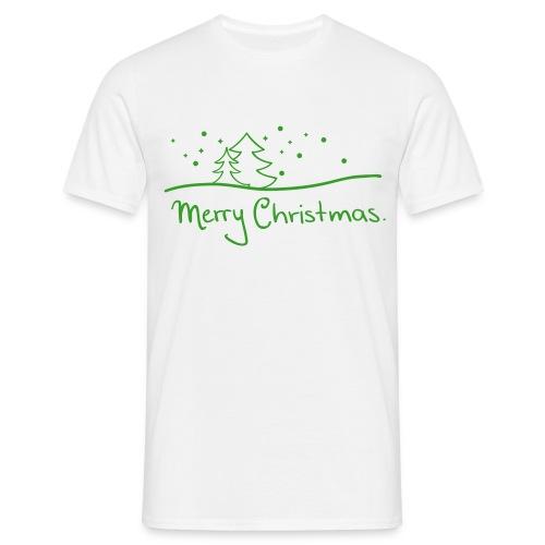 T-Shirt Merry Christmas weiß/grün - Männer T-Shirt