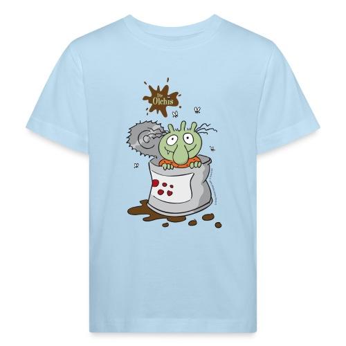 Kinder Bio-T-Shirt - Ein offizielles Olchi - T-Shirt. Die Olchis vom Oetinger Verlag. Weitere tolle T-Shirts, Langarmshirts und Pullover von den Olchis aus Schmuddelfing und ihrem Drachen Feuerstuhl findet ihr im Olchis T-Shirt-Shop.