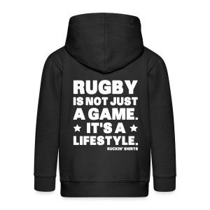 Rugby Is Not Just a Game - Kids' Premium Zip Hoodie