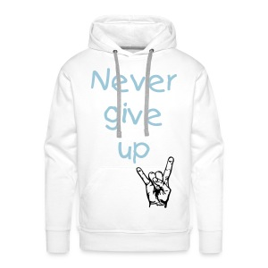 Never give up - Sweat-shirt à capuche Premium pour hommes