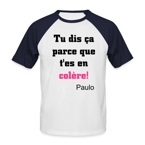 Paulo Style - T-shirt baseball manches courtes Homme