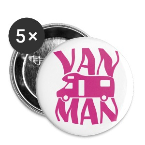 Badge - Van Man - Buttons large 56 mm