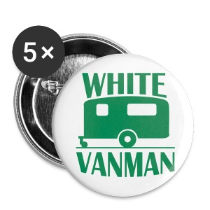 Badge - White VanMan - Buttons large 56 mm