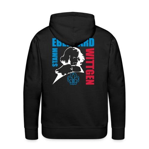 Pfadfinder Sweater mit Name und Logo vorne und Eberhard hinten - Männer Premium Hoodie