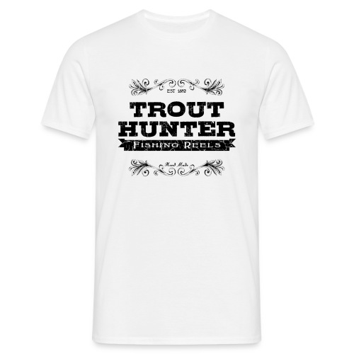 [Trout Hunter] blanc - Men's T-Shirt