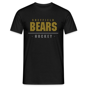 BEARS Hockey Tee - Black (Metallic) - Men's T-Shirt