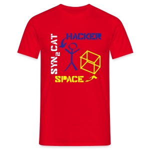 hacker + space shirt (red edition) - Men's T-Shirt