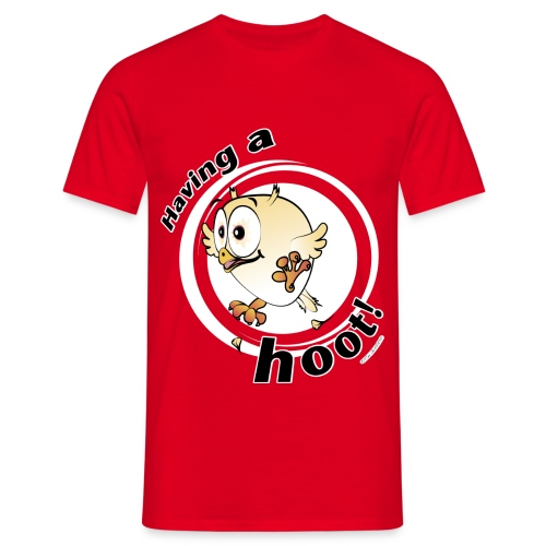 Having a hoot! (red) - Men's T-Shirt