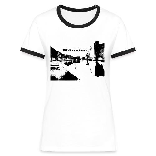 Damen Shirt Münster - Frauen Kontrast-T-Shirt