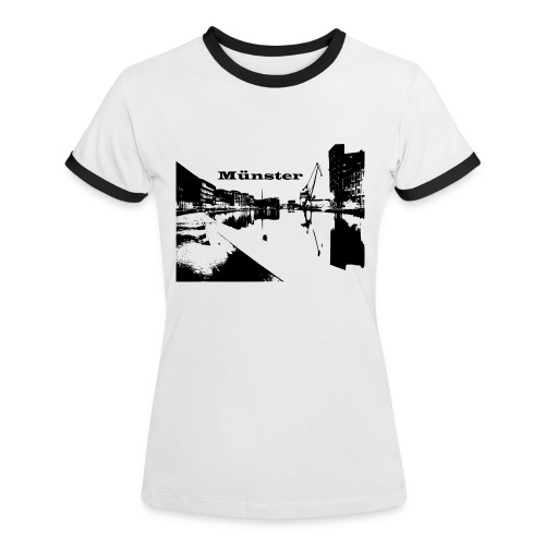 Damen Shirt Münster - Frauen Kontrast-T-Shirt