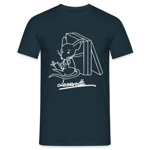 Motiv: Leseratte | Druck: weiß | verschiedene Farben - Männer T-Shirt