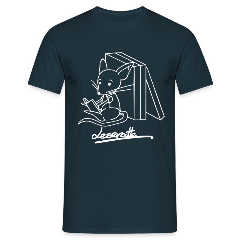 Motiv: Leseratte   Druck: weiß   verschiedene Farben - Männer T-Shirt