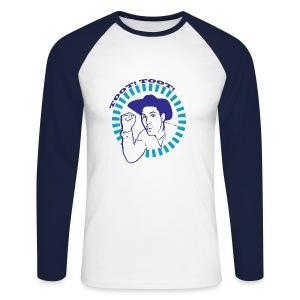 'Toot Toot!' Neg Logo - Men's Long Sleeve T-Shirt - Men's Long Sleeve Baseball T-Shirt
