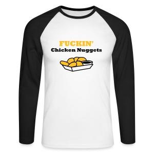 'Chicken Nuggets' - Men's Long Sleeve T-Shirt - Men's Long Sleeve Baseball T-Shirt