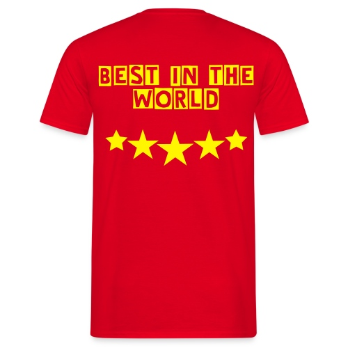 Best In The World Rouge - T-shirt Homme