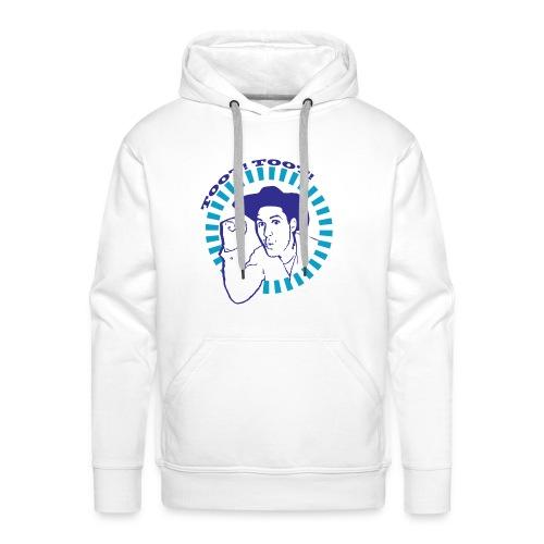 'Toot Toot!' Neg Logo - Men's White Hoodie - Men's Premium Hoodie