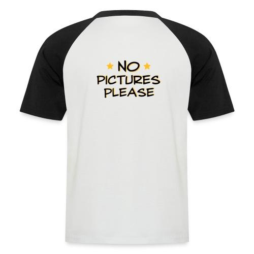 No pictures please badminton t-shirt - Kortærmet herre-baseballshirt
