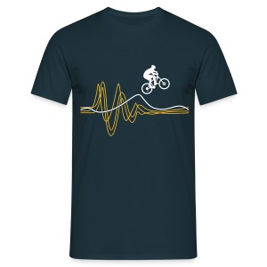Jump T-shirt - Yellow print - Men's T-Shirt