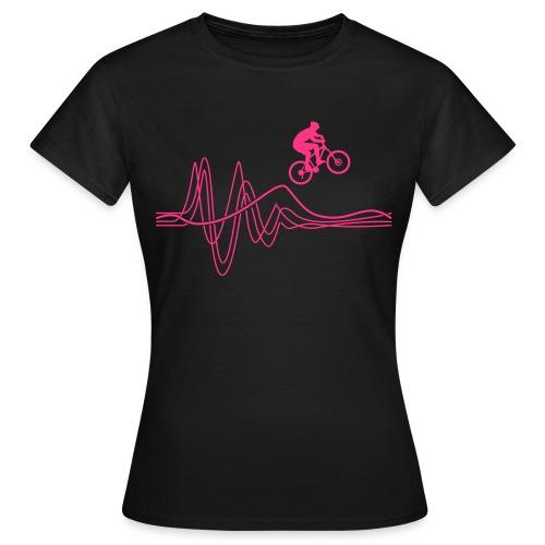 Women's Jump T-shirt - Neon Pink - Women's T-Shirt