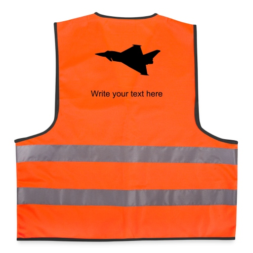 Reflective Vest Typhoon Silhouette - custom Text - Reflective Vest