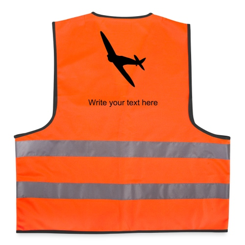 Reflective Vest Spitfire - custom Text - Reflective Vest